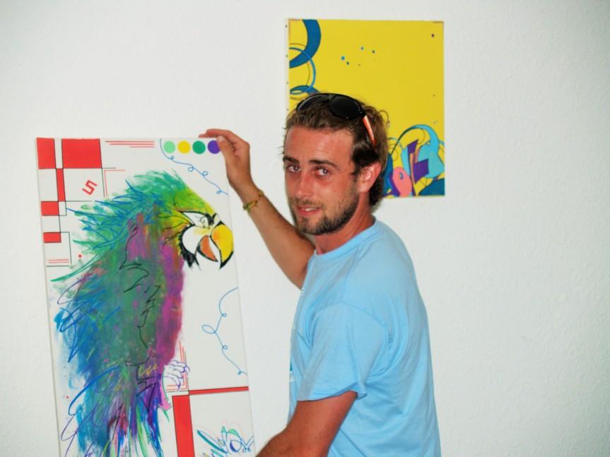 La Graffeur Fabien Vila (Photo La Gazette Catalane)