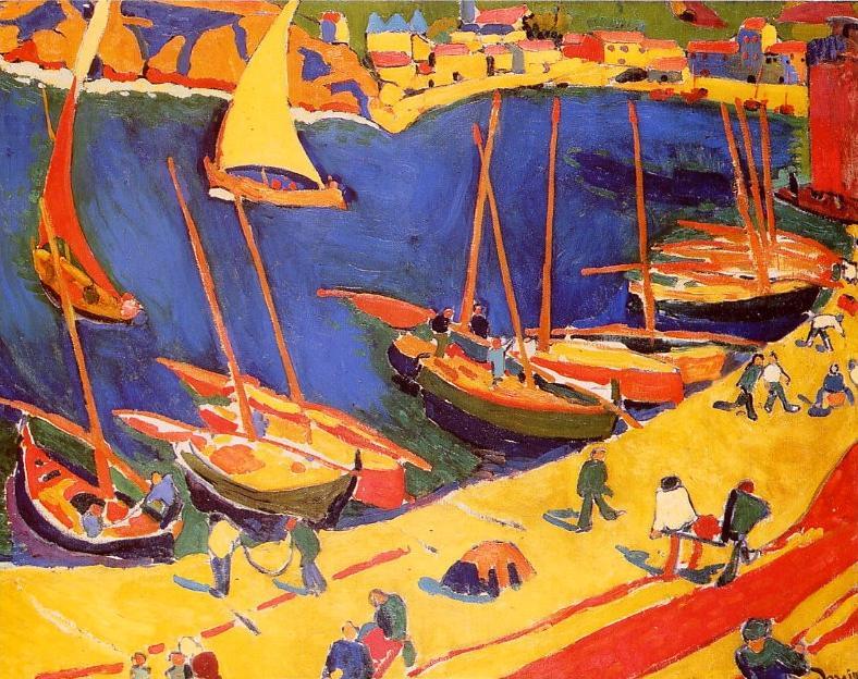 """André DERAIN """"Collioure: le port de pêche"""""""