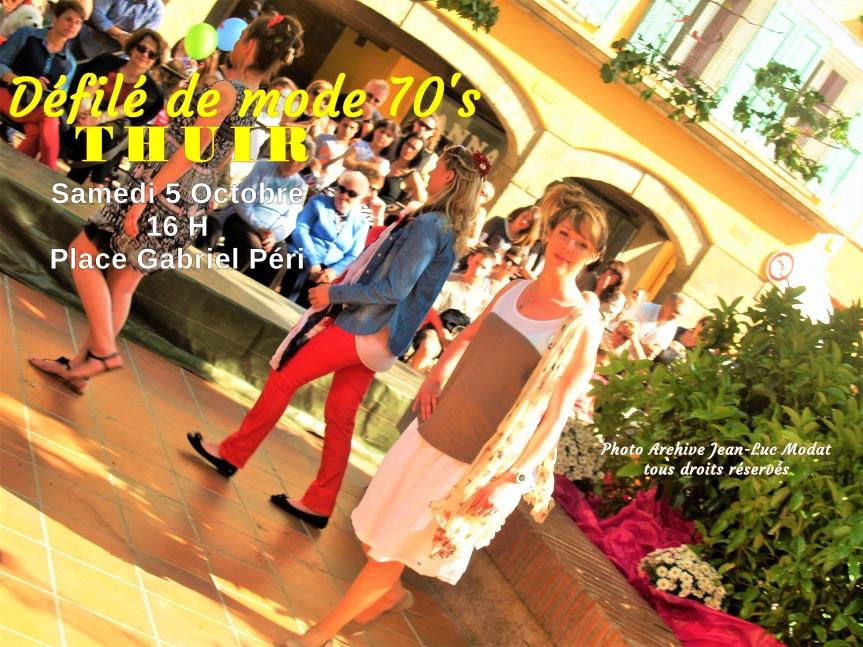 Thuir : Spectaculaire défilé de mode, décor 70's àcorps