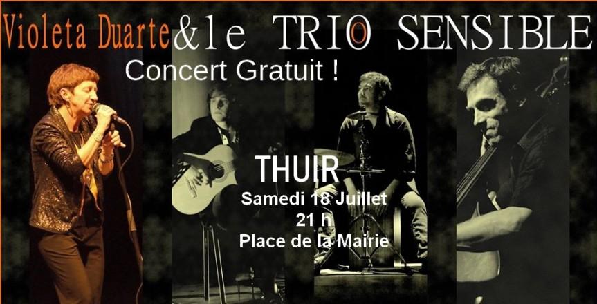 Thuir : Violeta Duarte accompagné du Trio Sensible  et quatuor à cordes enconcert