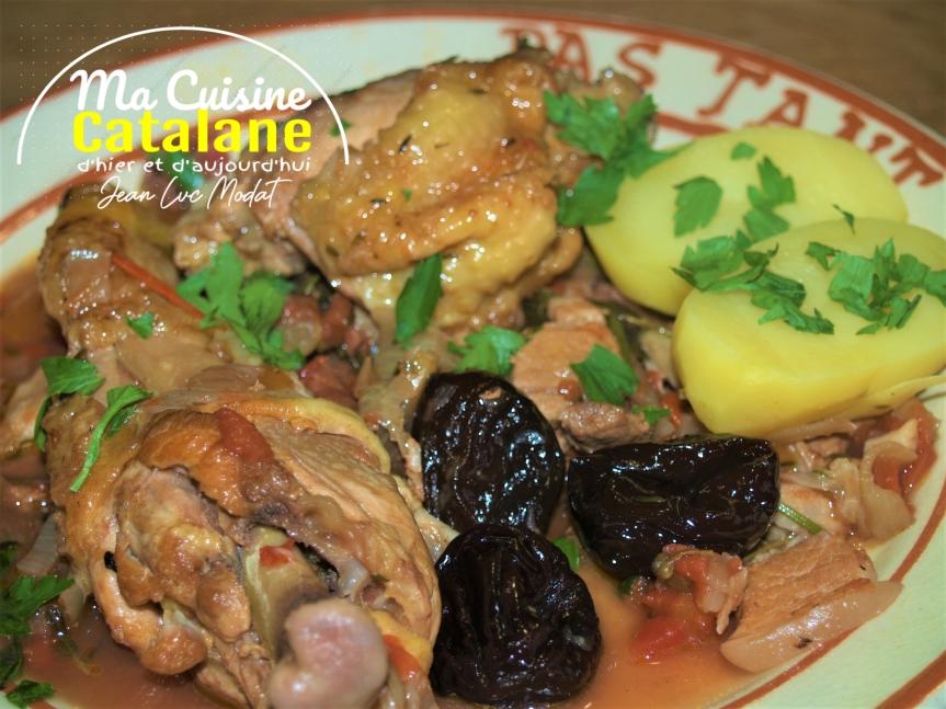 Cuisses de poulet à la catalane auxpruneaux