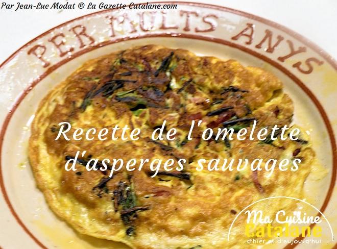Recette catalane de l'omelette d'asperges sauvages