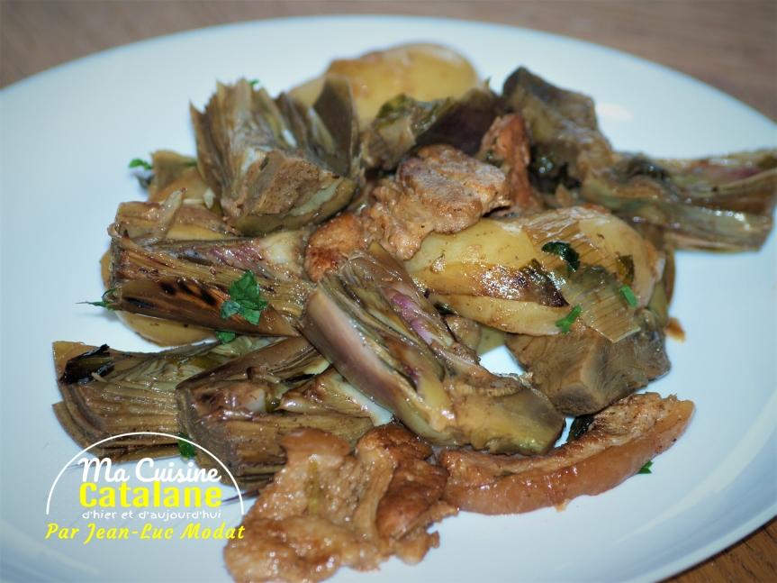 Artichauts et patates nouvelles à l'étouffée