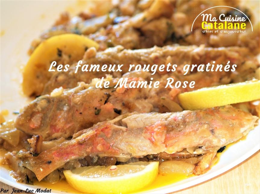 Les fameux rougets gratinés de MamieRose