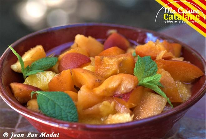 Melon, abricot, pêche au Muscat deRivesaltes